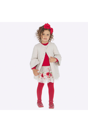 Mayoral Rojo Embroidered Skirt - Front full body