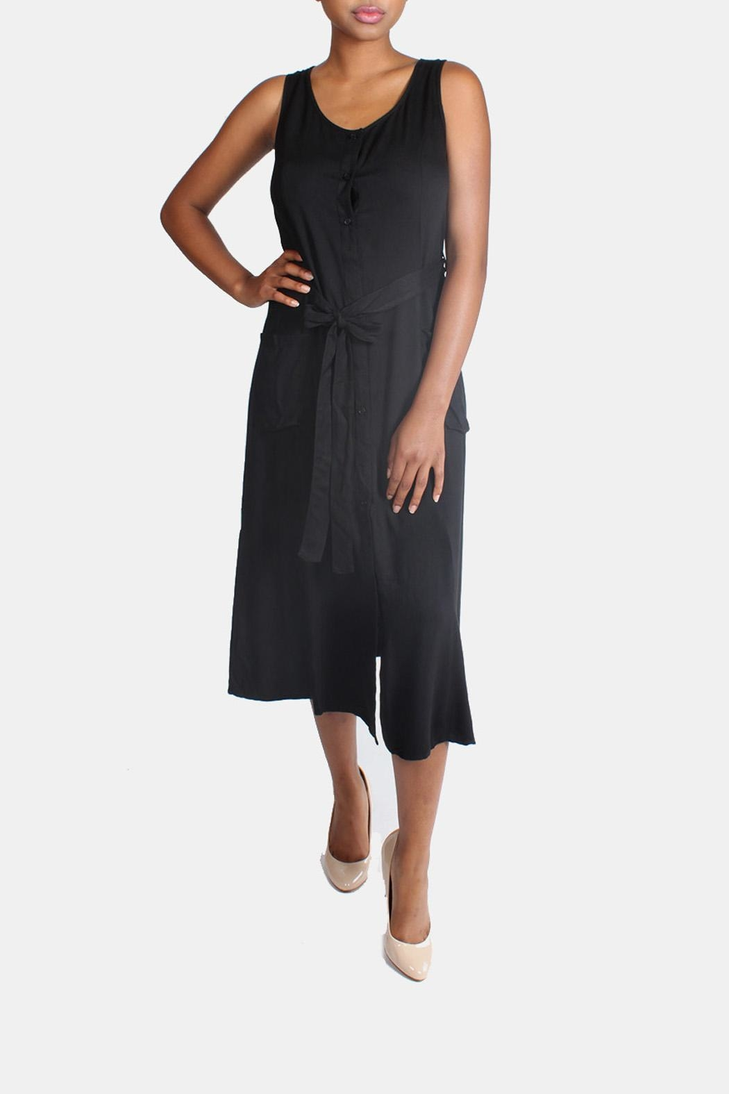 rokoko Button Down Maxi Dress - Front Cropped Image