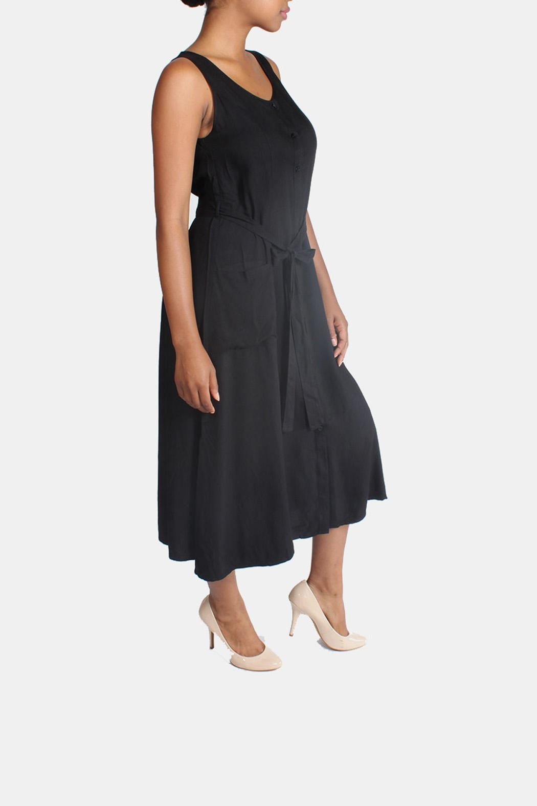 rokoko Button Down Maxi Dress - Back Cropped Image