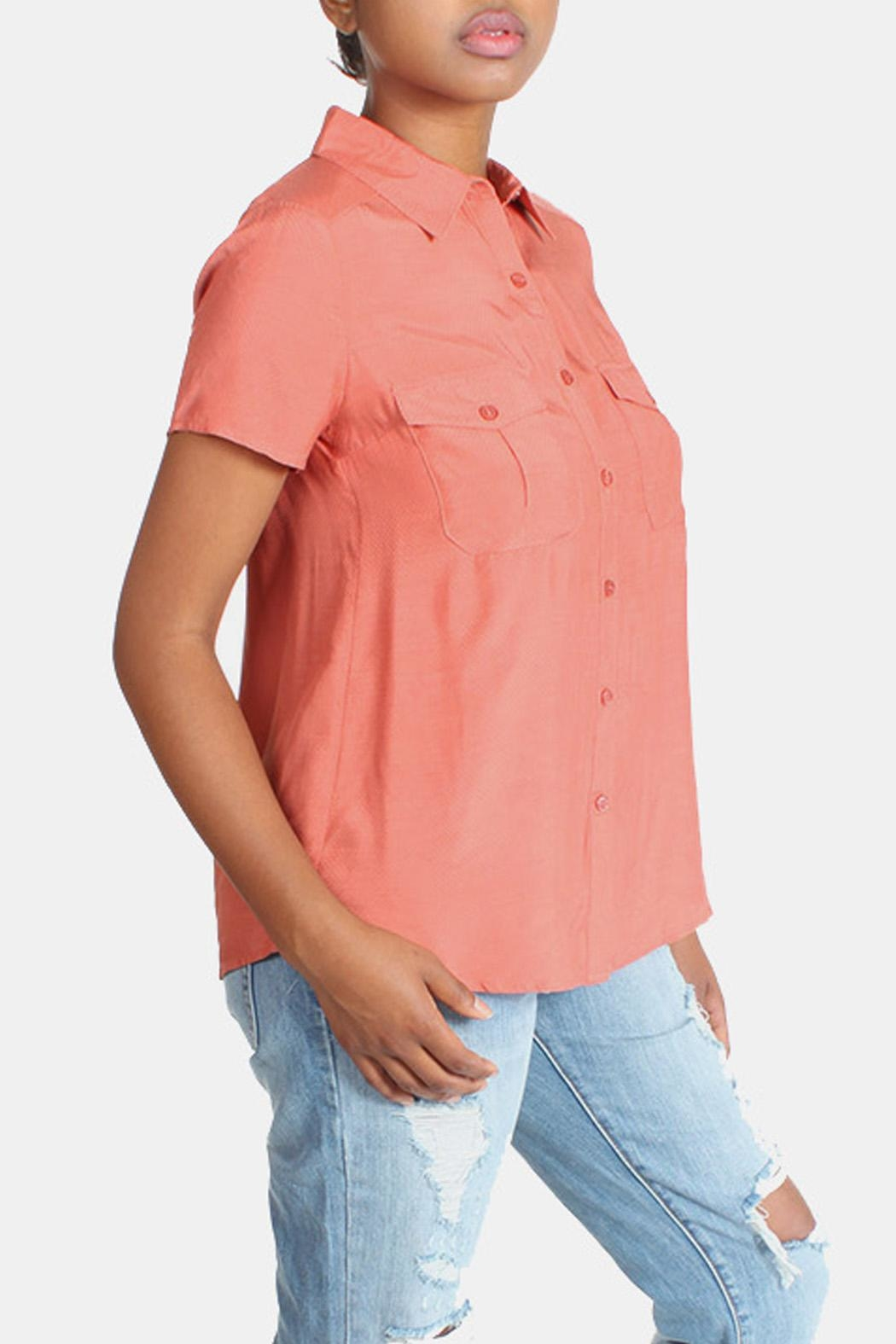 rokoko Button Down Blouse - Back Cropped Image