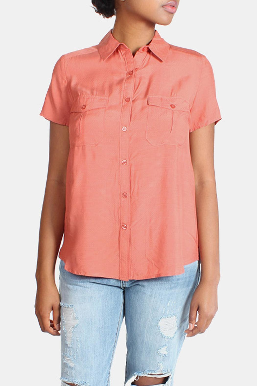rokoko Button Down Blouse - Front Cropped Image