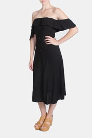 rokoko Black Off-Shoulder Dress - Back cropped