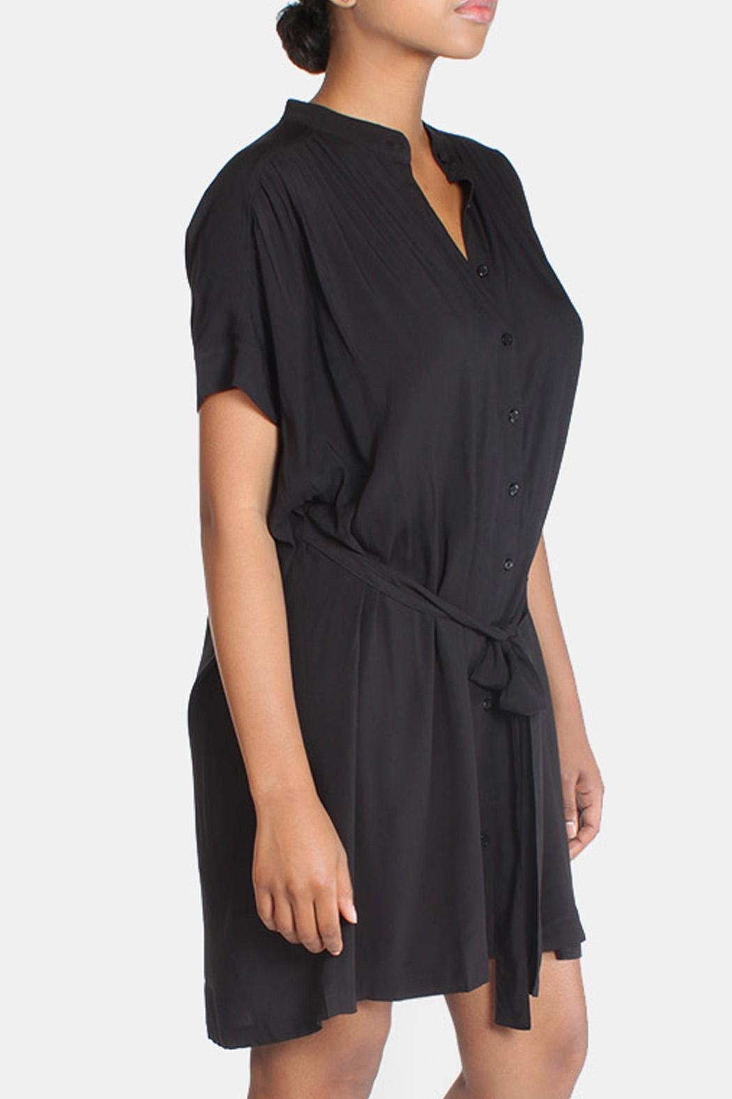 rokoko Black Slouchy Chic Dress - Side Cropped Image