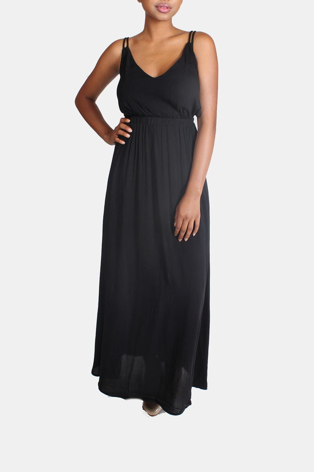 rokoko Tie Back Maxi Dress - Side Cropped Image