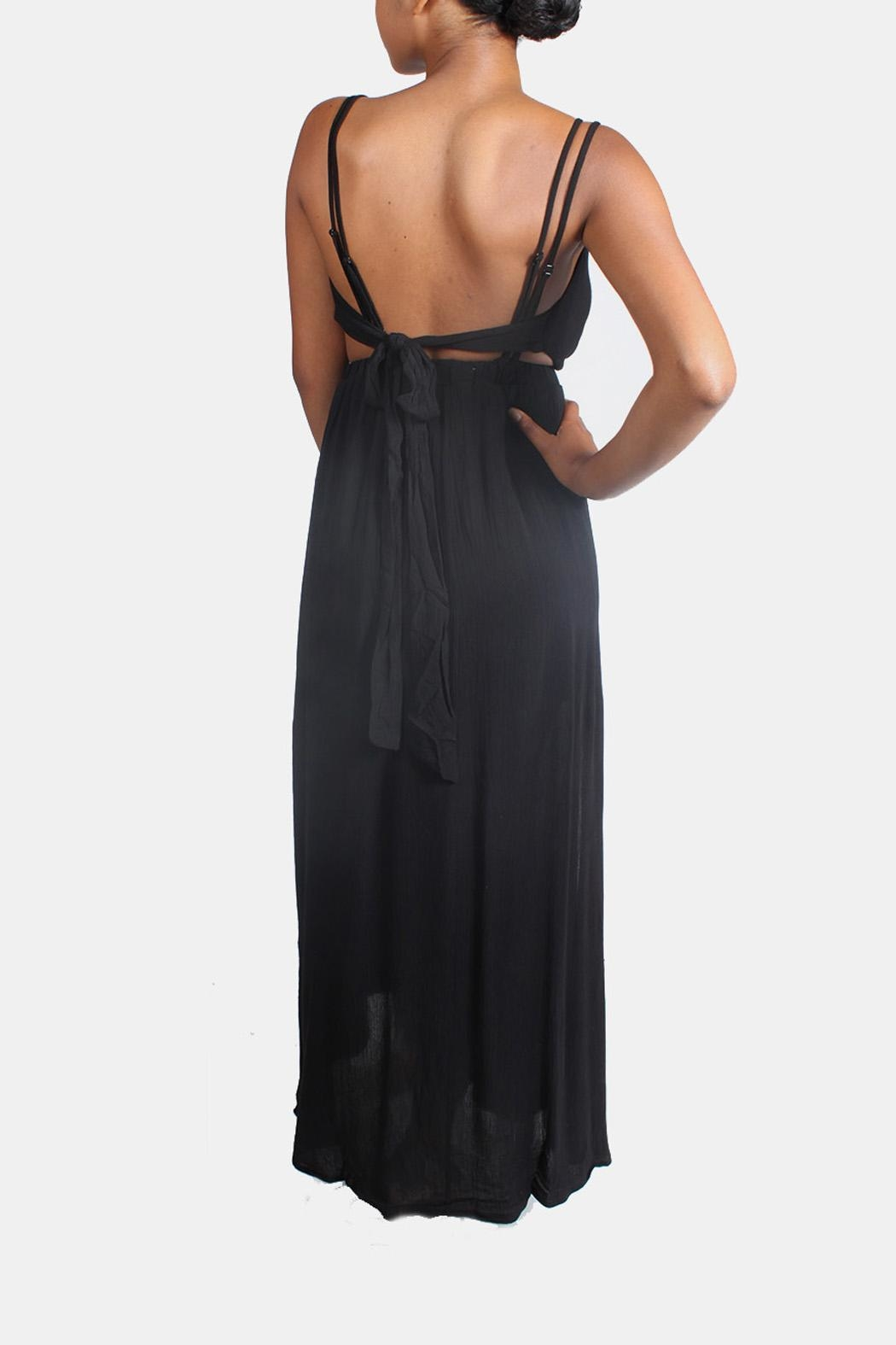 rokoko Tie Back Maxi Dress - Back Cropped Image