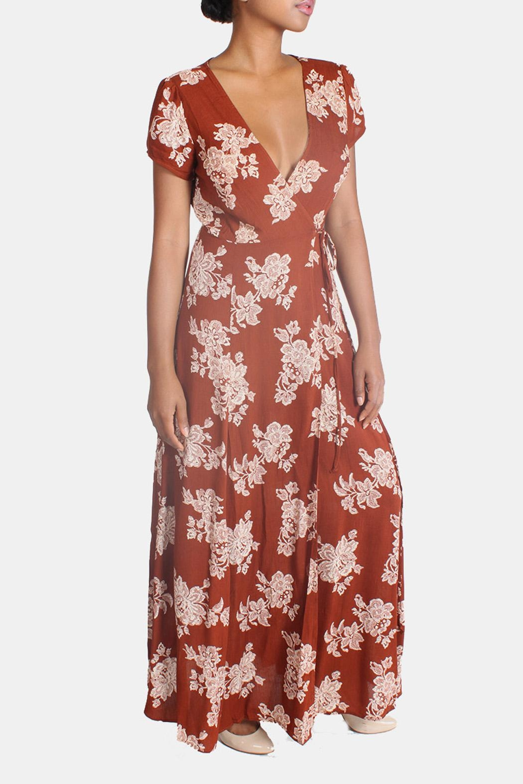 Rokoko Floral Wrap Dress From Los Angeles By Goldie S