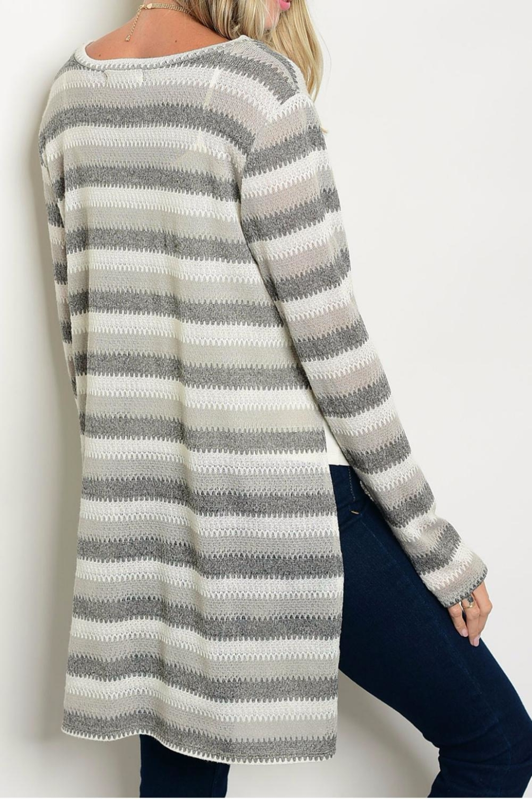 rokoko Charcoal Sweater - Side Cropped Image