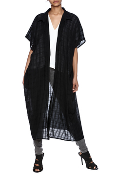 Shoptiques Product: Checkered Long Cardigan