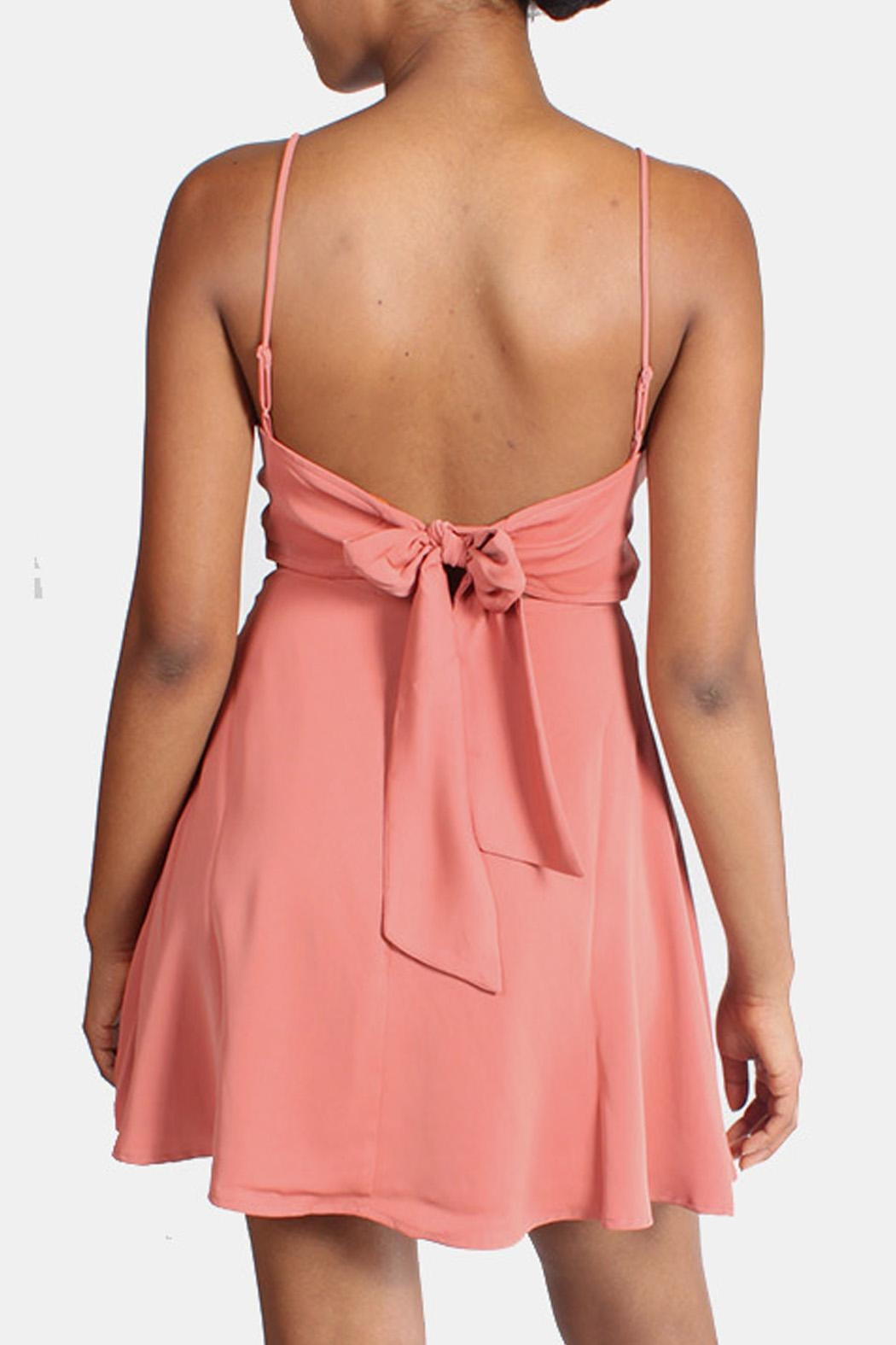 rokoko Tie Back Mini Dress - Back Cropped Image