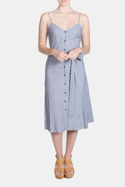rokoko Denim Stripe Dress - Front full body