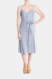 rokoko Denim Stripe Dress - Front cropped