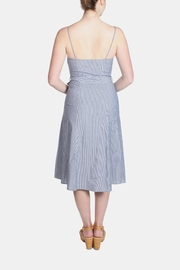 rokoko Denim Stripe Dress - Back cropped