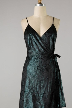 rokoko Green Metallic-Velvet Dress - Product List Image