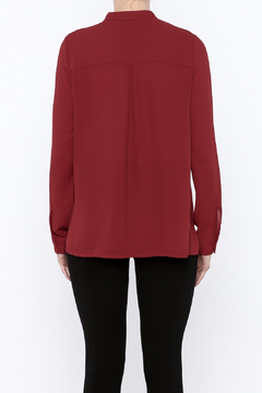Shoptiques Product: High Neck Red Blouse