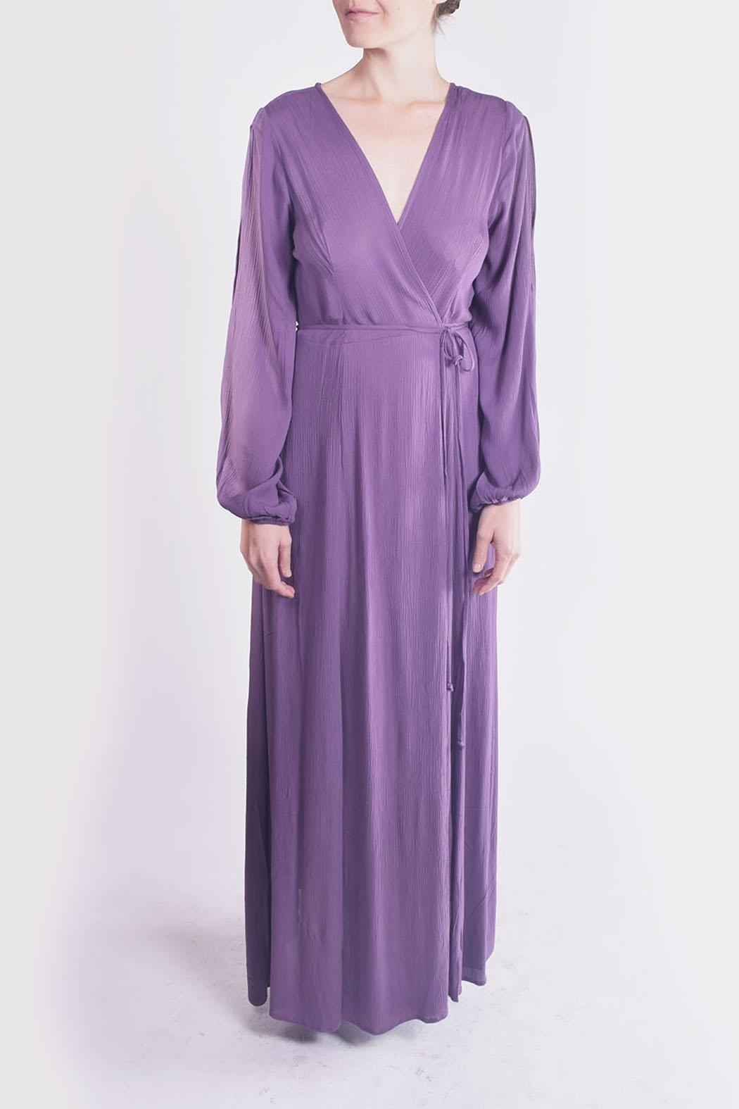 rokoko Lavender Wrap Maxi-Dress - Front Cropped Image