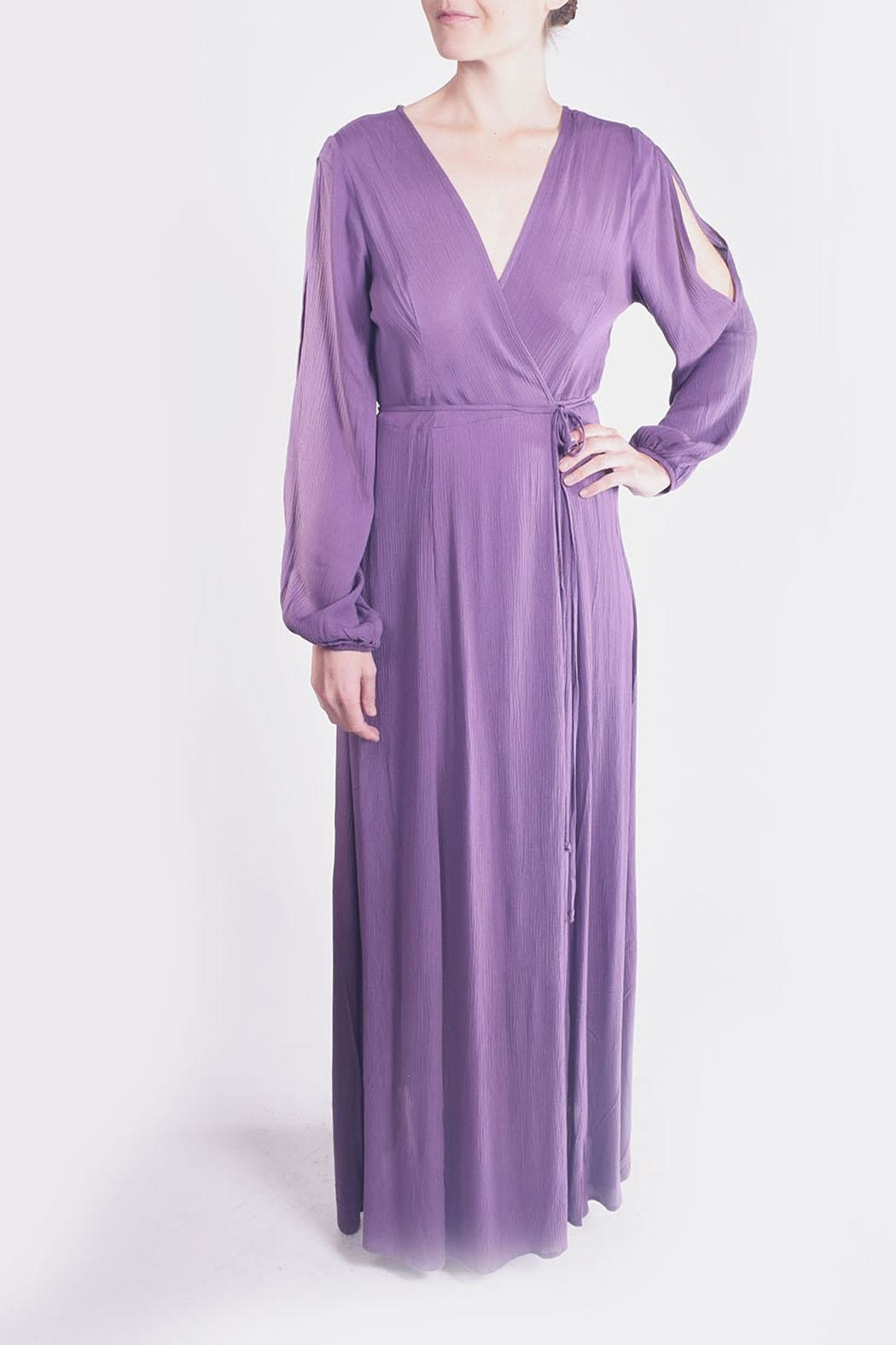 rokoko Lavender Wrap Maxi-Dress - Side Cropped Image