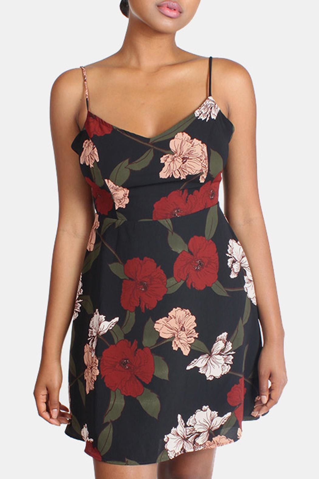 rokoko Mysterious Floral Mini Dress - Front Cropped Image