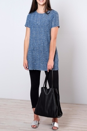 rokoko Perforated Denim Tunic Top - Front cropped