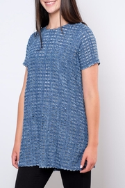 rokoko Perforated Denim Tunic Top - Side cropped
