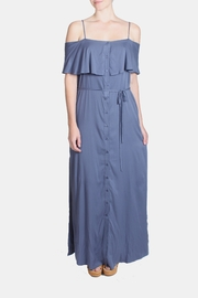 rokoko Periwinkle Ruffle Maxi-Dress - Product Mini Image