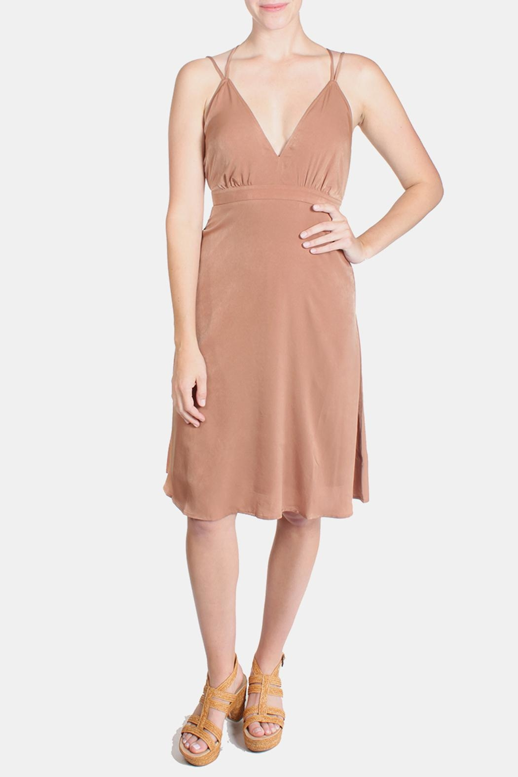 rokoko Roxanne Satin Dress - Front Cropped Image