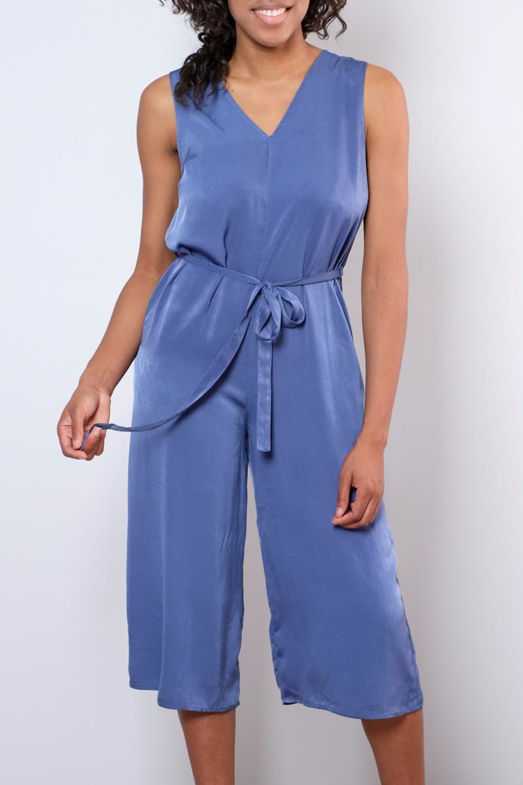 rokoko Satin Culotte Jumpsuit - Front Cropped Image