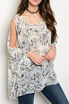 rokoko Sheer Floral Blouse - Product List Image