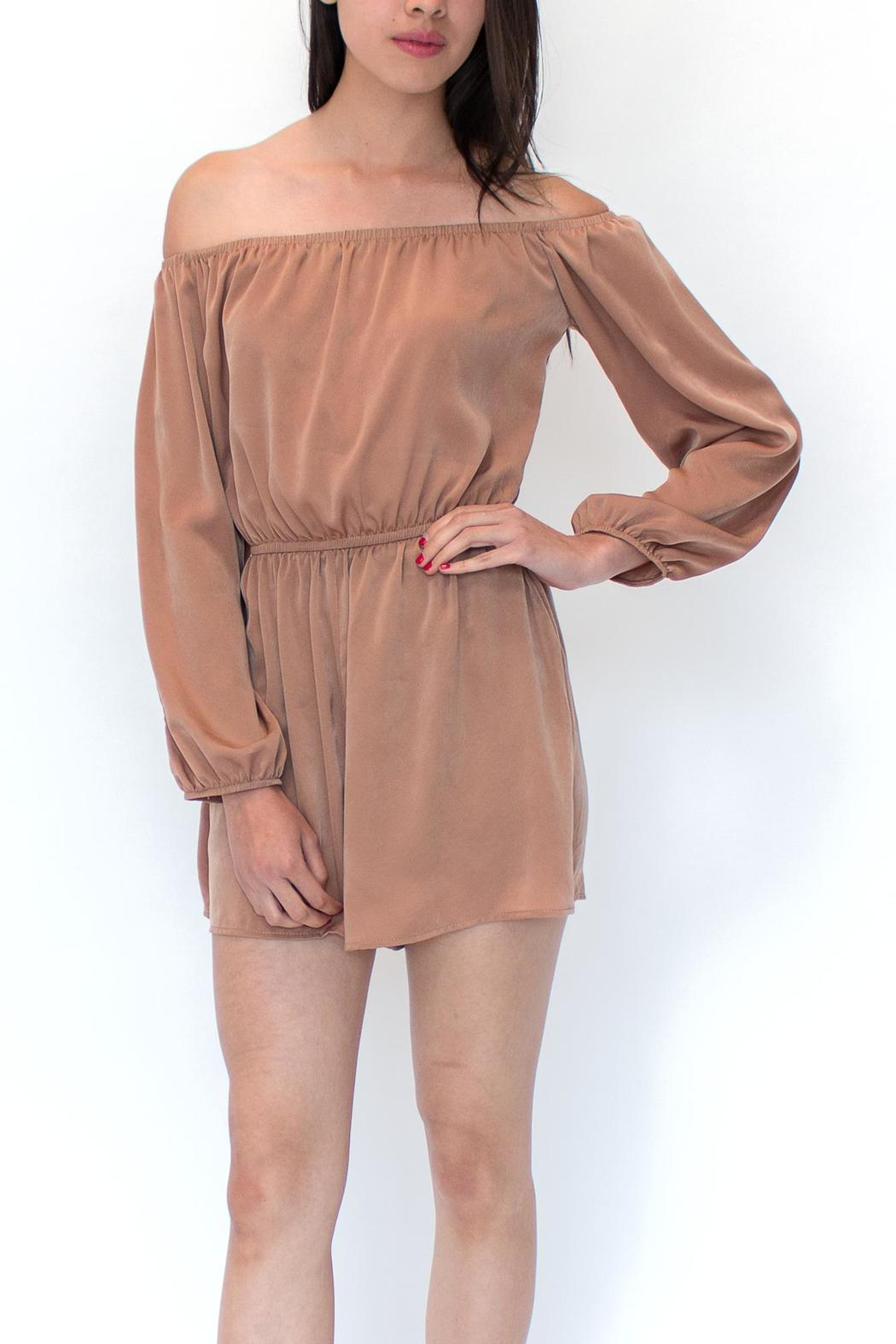 rokoko Stretch Bardot Romper - Front Cropped Image