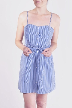 Shoptiques Product: Striped Button-Down Mini