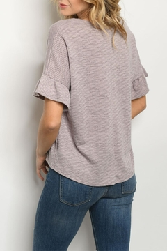 rokoko Taupe Flounce-Sleeve Top - Alternate List Image