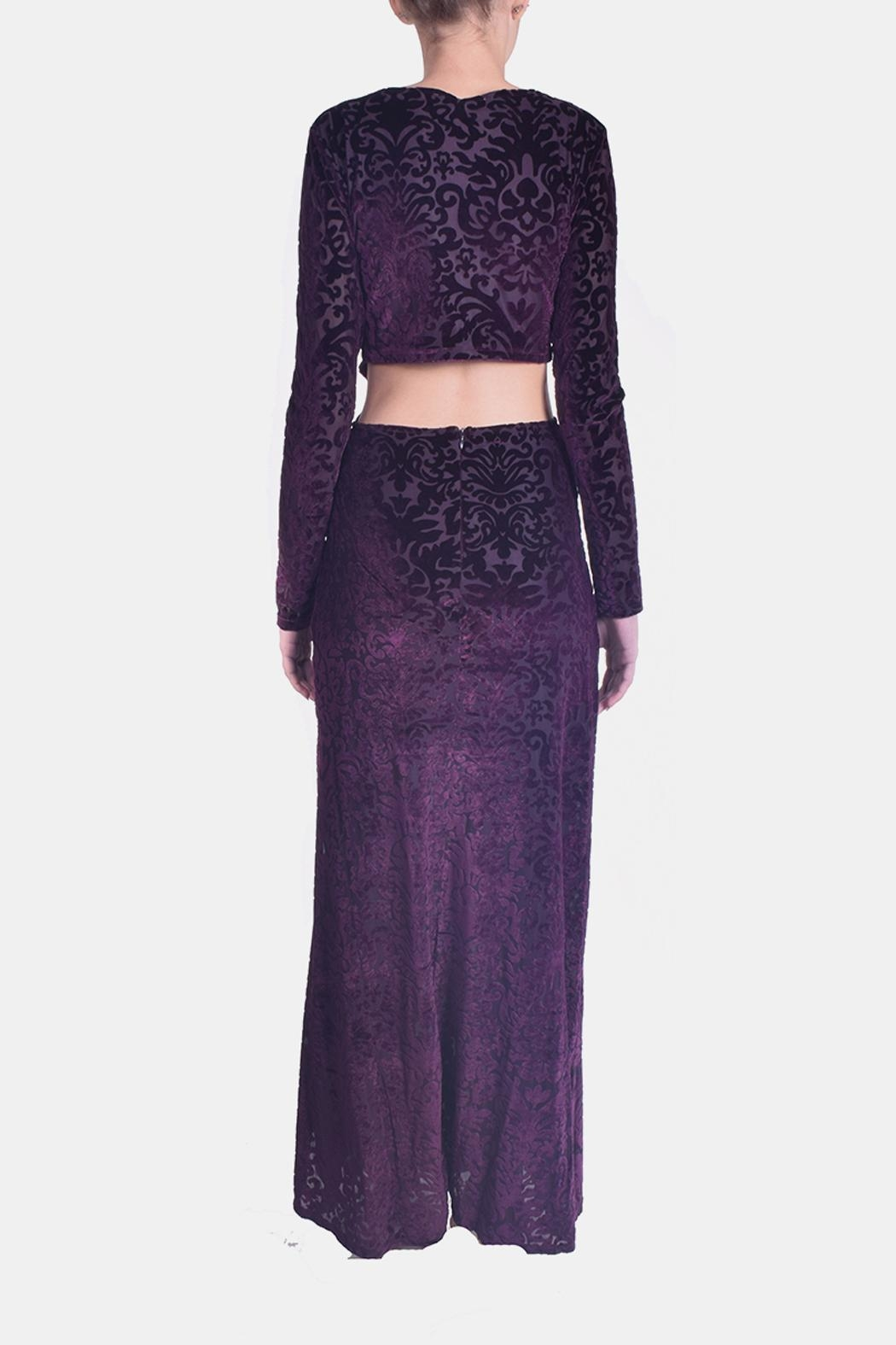 rokoko Velvet Filigree Maxi - Side Cropped Image