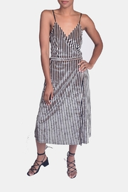 rokoko Velvet Pinstripe Dress - Product Mini Image