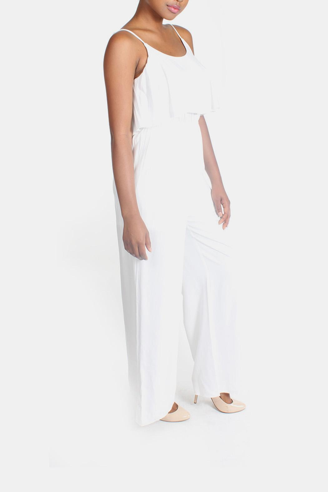 rokoko White Flutter Jumpsuit - Side Cropped Image