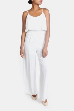 Shoptiques Product: White Flutter Jumpsuit
