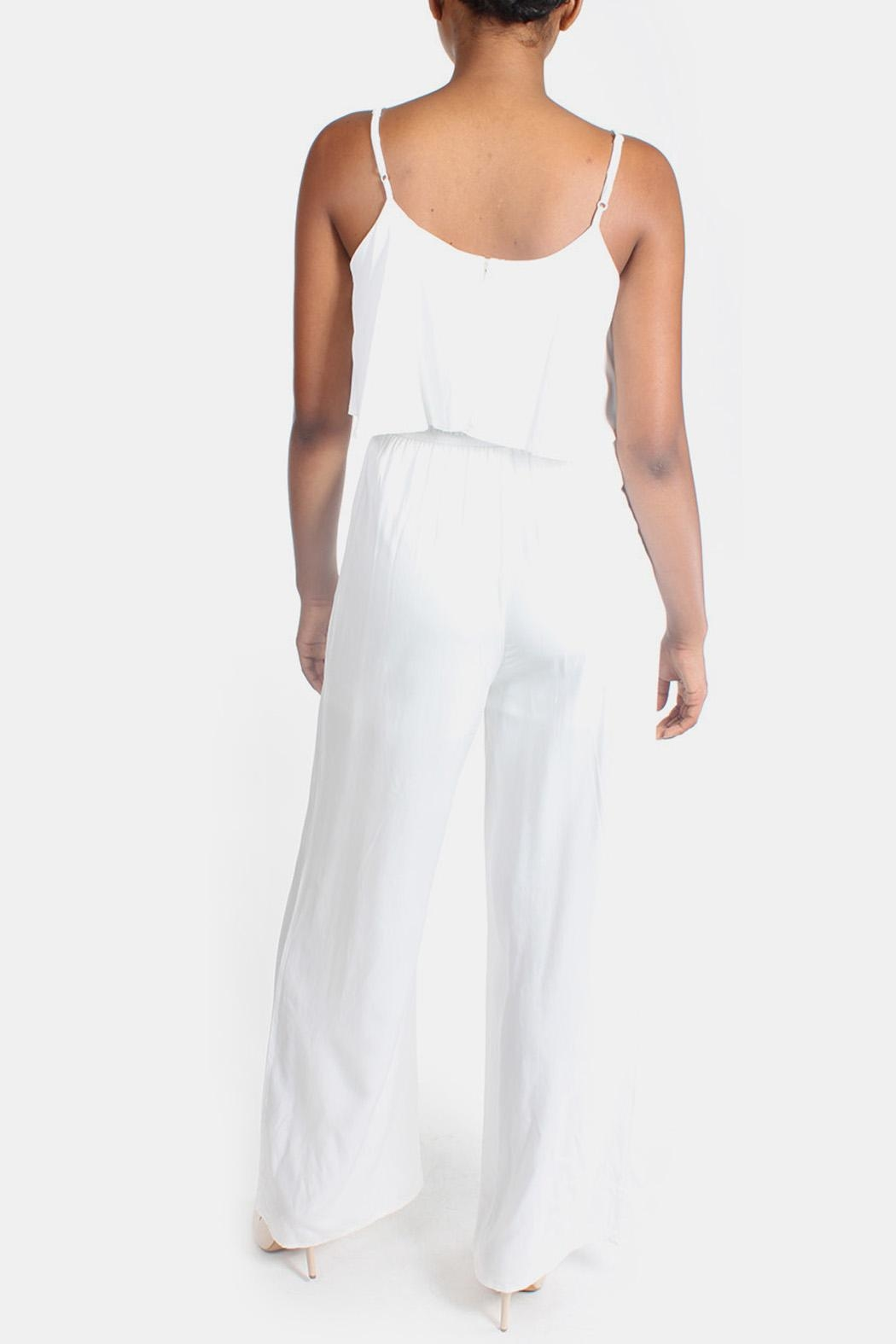 rokoko White Flutter Jumpsuit - Back Cropped Image