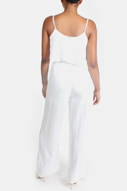 rokoko White Flutter Jumpsuit - Back cropped