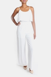 rokoko White Flutter Jumpsuit - Front full body