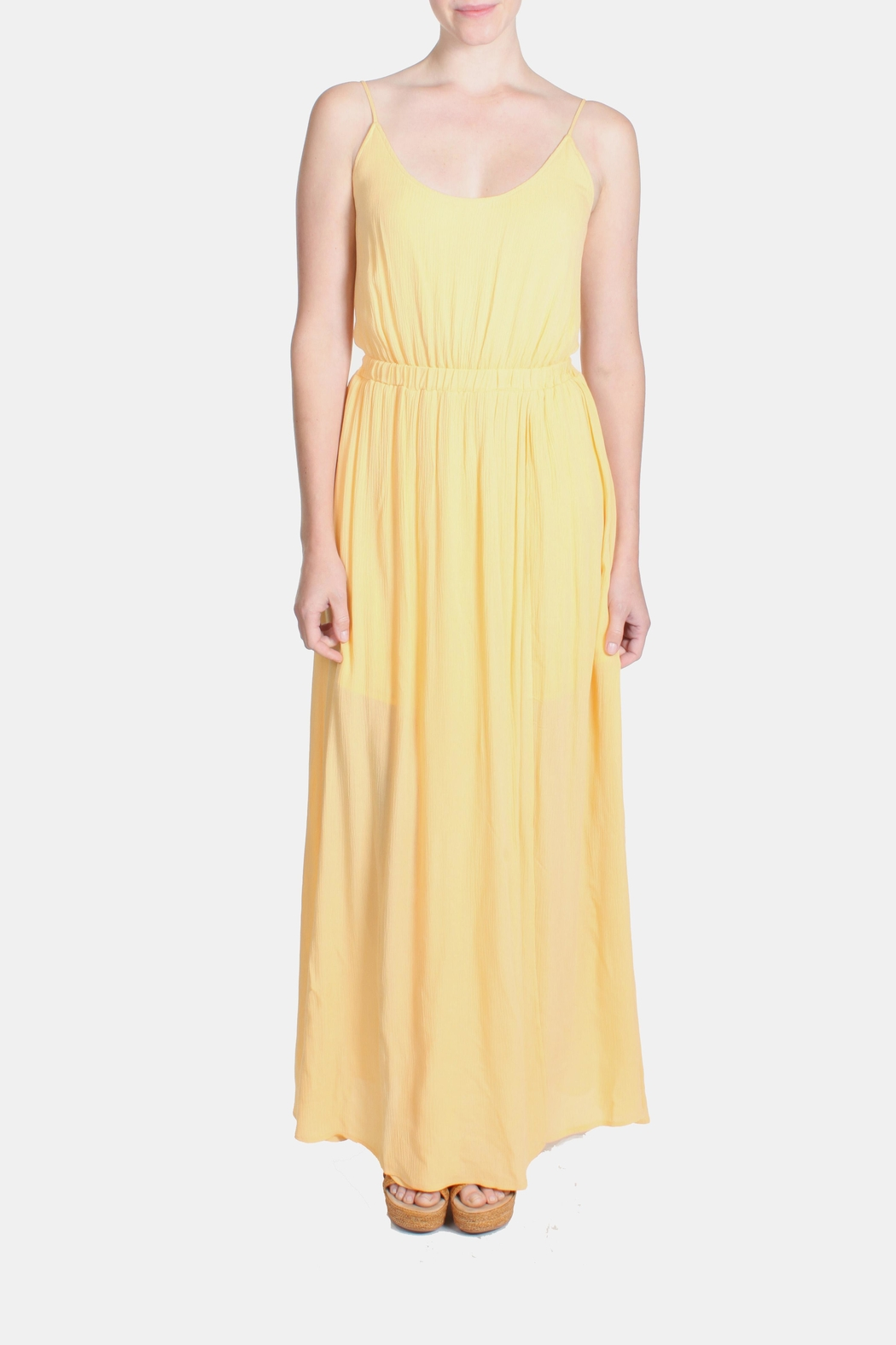 rokoko Yellow Corset Dress - Front Full Image