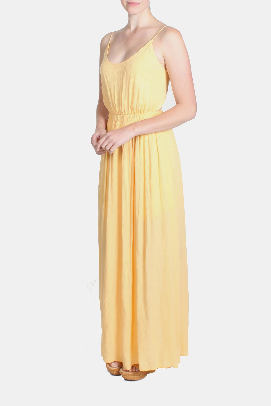 rokoko Yellow Corset Dress - Side Cropped Image