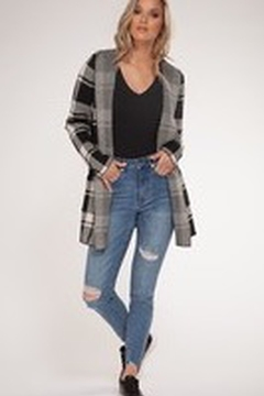 Dex Roll Collar Hooded Cardigan Sweater - Product List Image