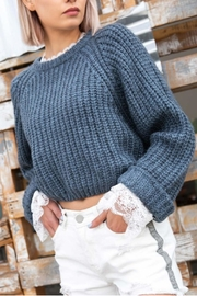 POL Roll-Sleeve Cropped Sweater - Product Mini Image