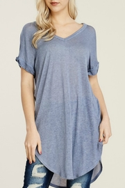 Papermoon Roll Sleeve Knit Dress - Product Mini Image
