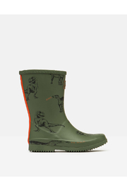 Joules Roll Up Rain Boots - Green Dinosaur - Product Mini Image