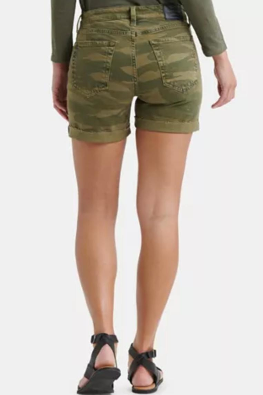 Lucky Brand Roll Up Shorts - Front Full Image