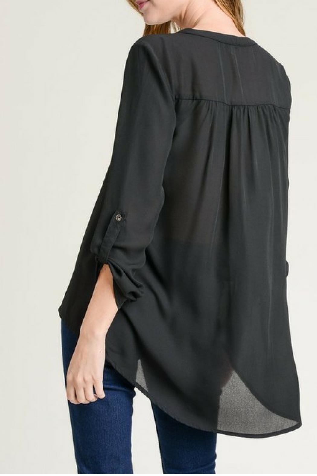 Jodifl Roll-Up Sleeve Blouse - Front Full Image