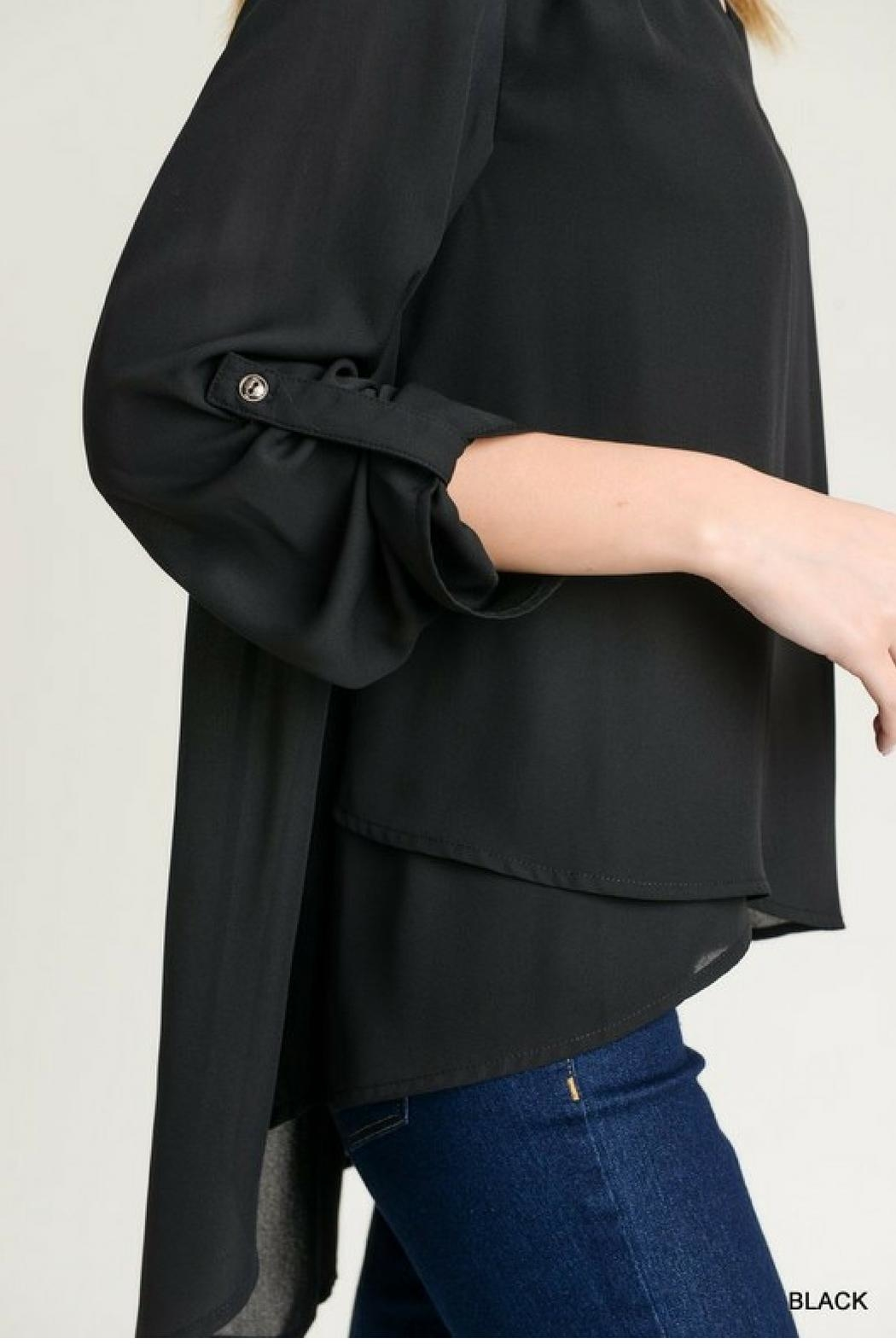 Jodifl Roll-Up Sleeve Blouse - Side Cropped Image
