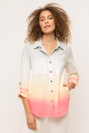Mystree ROLL UP SLEEVE OMBRE SHIRT - Product Mini Image