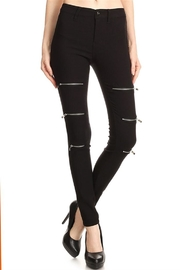 Rolla' Black Zipper Pants - Front cropped