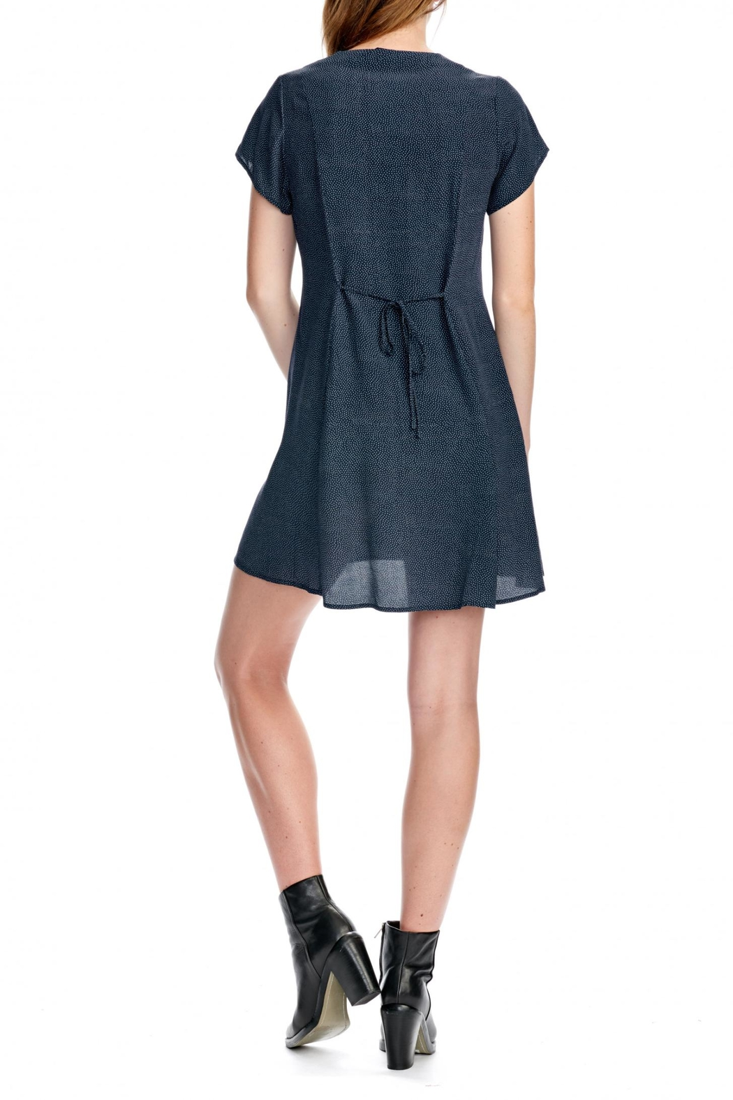 ROLLAS Milla Navy Dress - Side Cropped Image