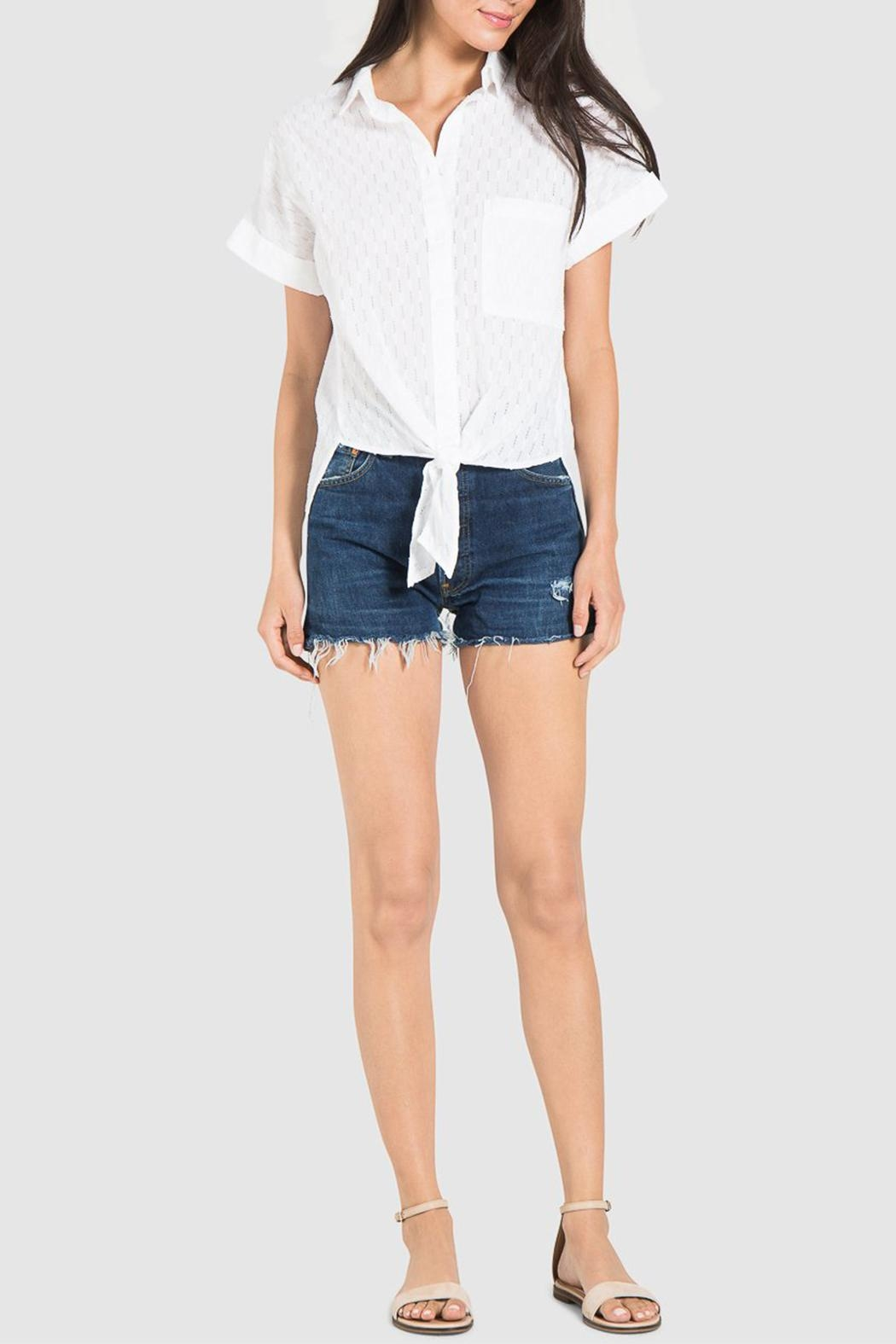 Bella Dahl Rolled Button Down - Back Cropped Image
